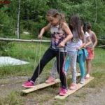 Ски - игра от анимацията на www.DetskiLageri.com
